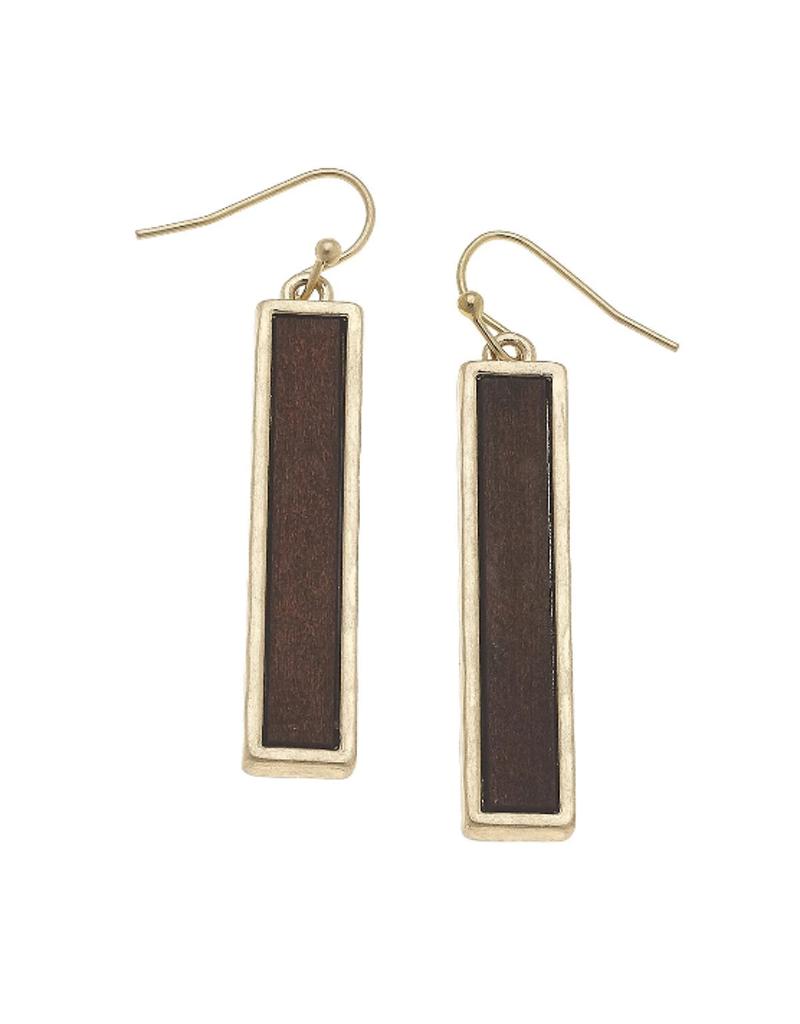 Wood Bar Earring