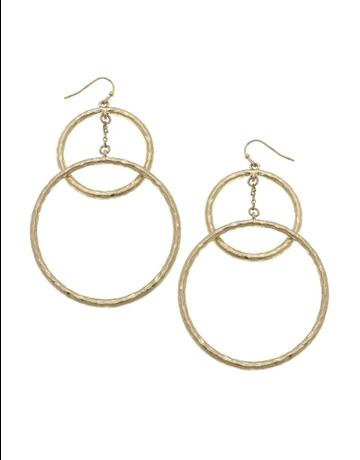 Double Drop Hoop Earrings