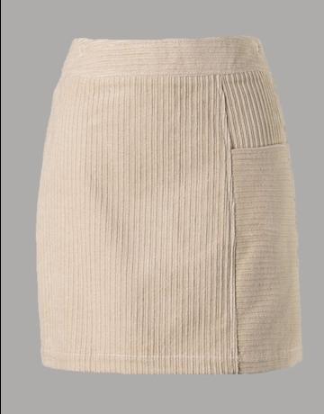 Solid Corduroy Mini Skirt
