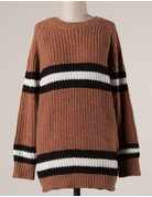 Ribbed Cable Knit Sweater