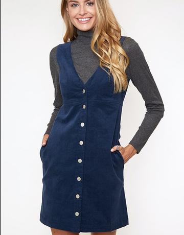 Classic Button-Down Mini Dress