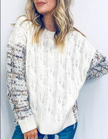 Plaid Printed Oversized Sweater