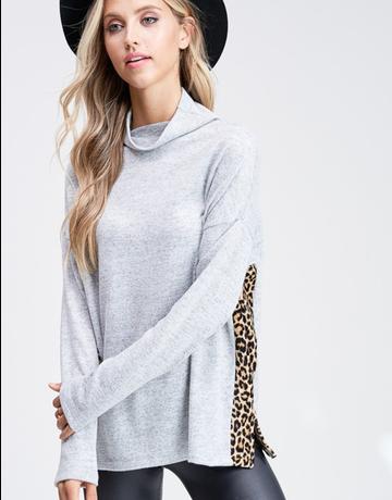 Long Sleeve Cowl Neck Top