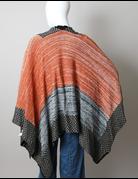 Space Knit Colorblock Ruana
