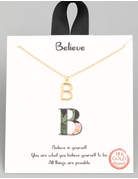 Gold Dipped Mini Initial Necklace