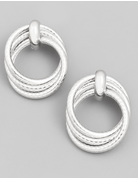Layered Circle Ring Earrings