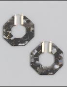 Acetate Octagon Hoop Earrings