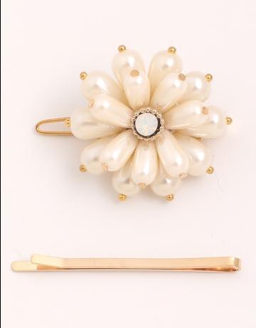 Pearl Flower Hair Clip Set