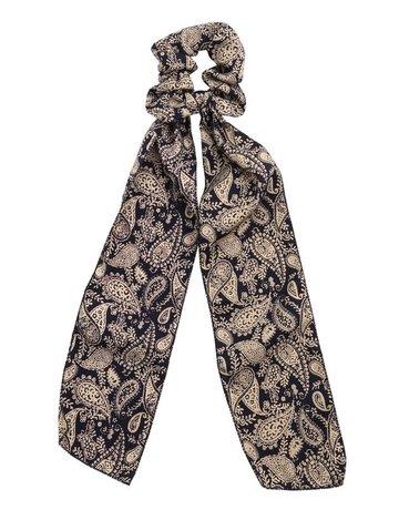 Paisley Print Long Tail Scrunchies