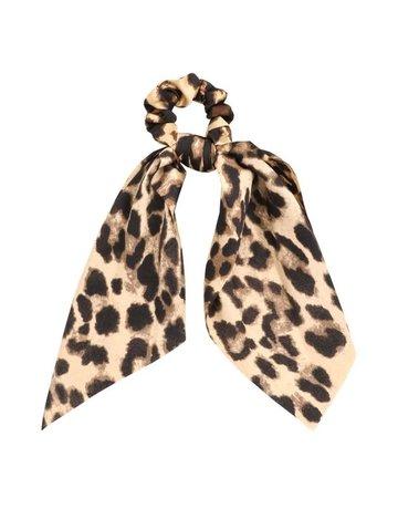 Leopard Print Tail Scrunchies