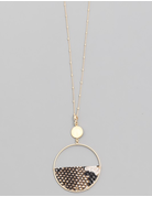 Animal Print Semi Circle Necklace