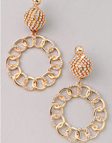 Gold Ball & Chain Hoops