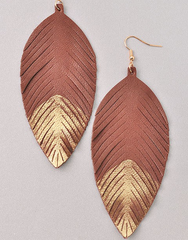 Leather Dipped Earring