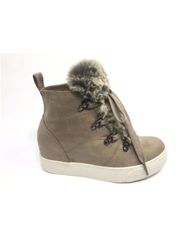 Shauna Fur Trimmed Wedge