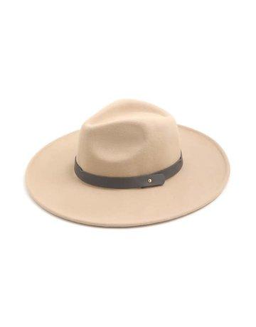 Wool Felt Flat Brim Fedora Hat