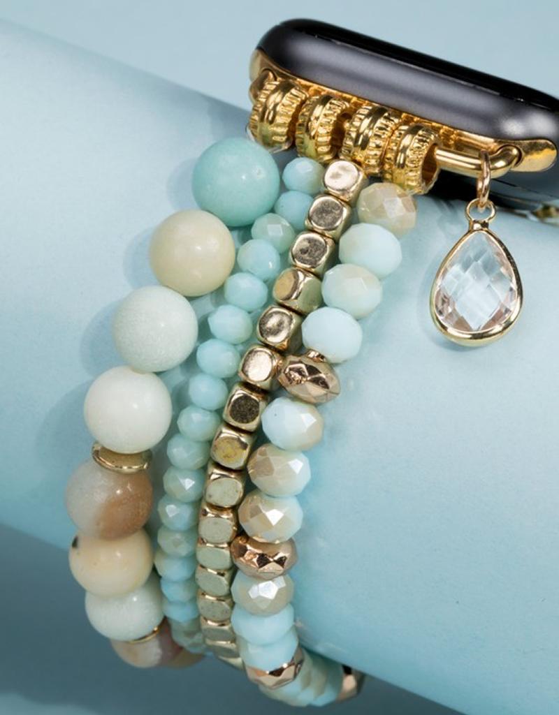 Natural Stone Bead Apple Watch Bracelet