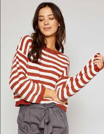 Ione Stripe Soft Knit Sweater
