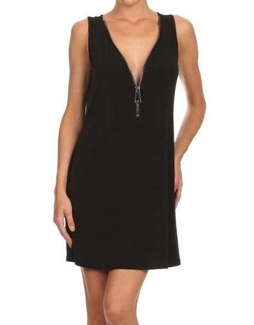 Big Zipper Short Dress