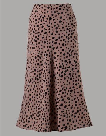 Animal Print Woven Skirt