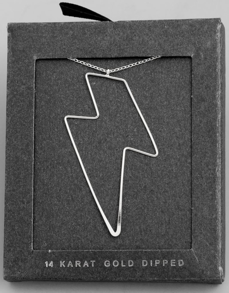 Wire Lightning Charm Necklace