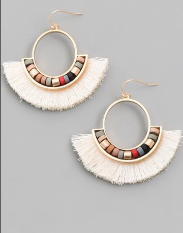 Tassel Fan Drop Earrings