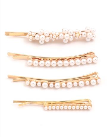 Multi Pearl Hair Pin Set