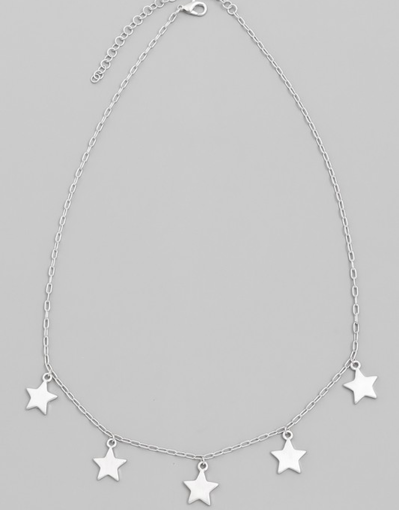 Metallic Star Necklace