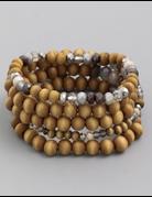 Assorted Wooden Bead Bracelet