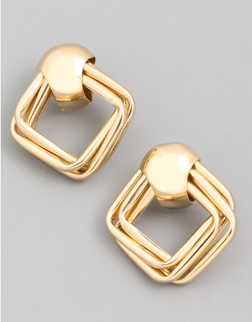 Multi Layered Square Earring