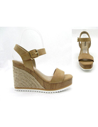 Open Toe Ankle Strap Wedges