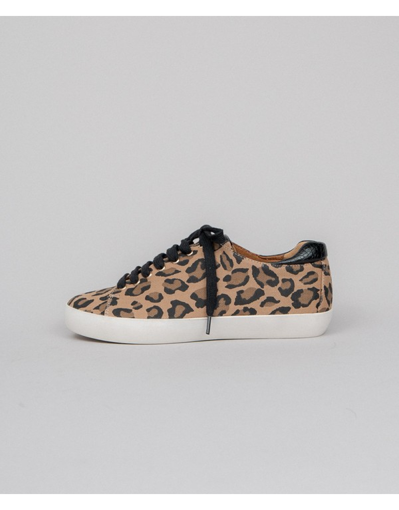Low Top Leopard & Leather Sneaker