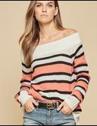 Loose Knit Stripe Sweater