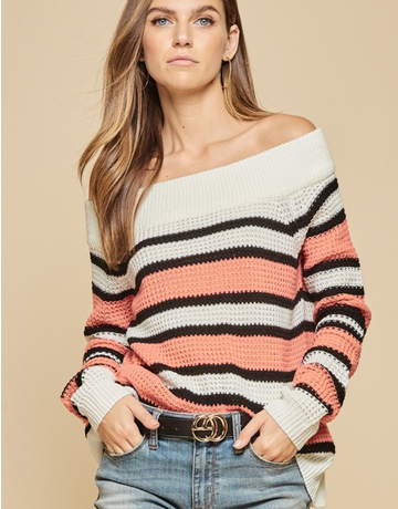 Loose Knit Stripe Sweater
