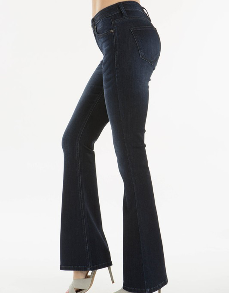 Petite High Rise Flare Denim