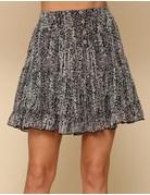 Floral Print Button Skirt