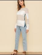 Color Block Multi Stripe Knit