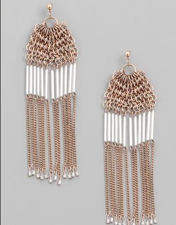 Multi Chain Fringe Earrings
