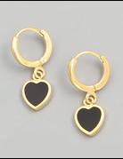 Heart Hoop Drop Earrings