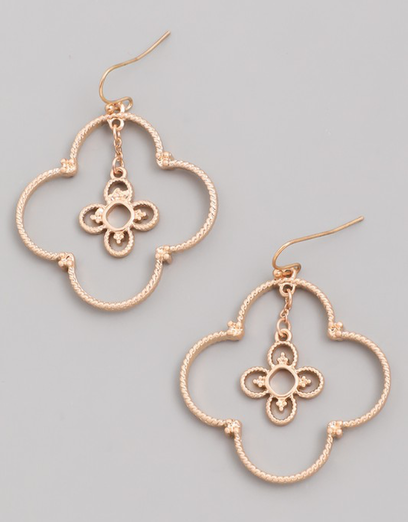 Clover Flower Drop Earrings