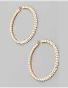 Large Rhinestone Hoop Earrings