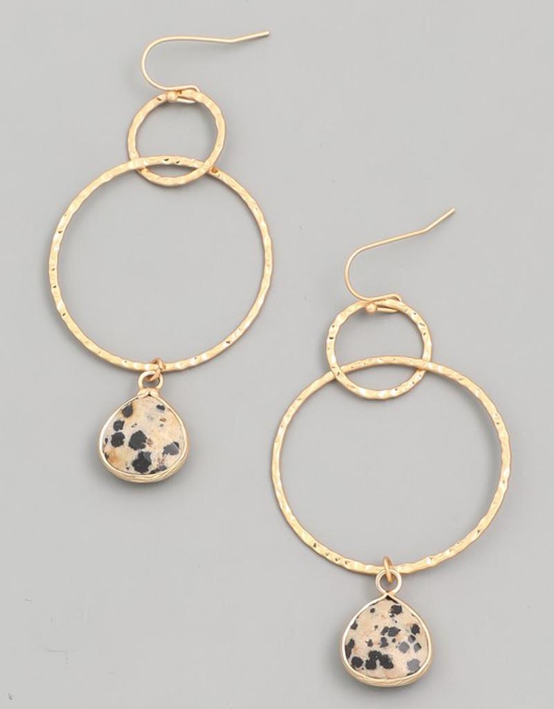 Mini Semi Precious Stone Drop Earrings