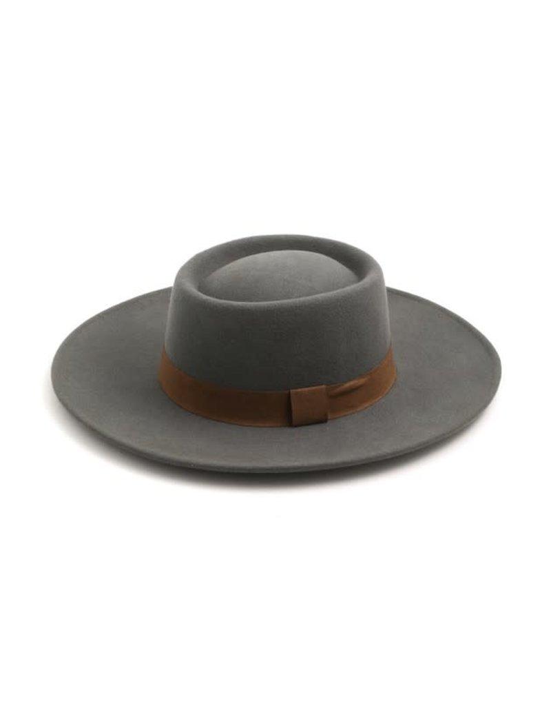 Ribbon Trim Wool Hat