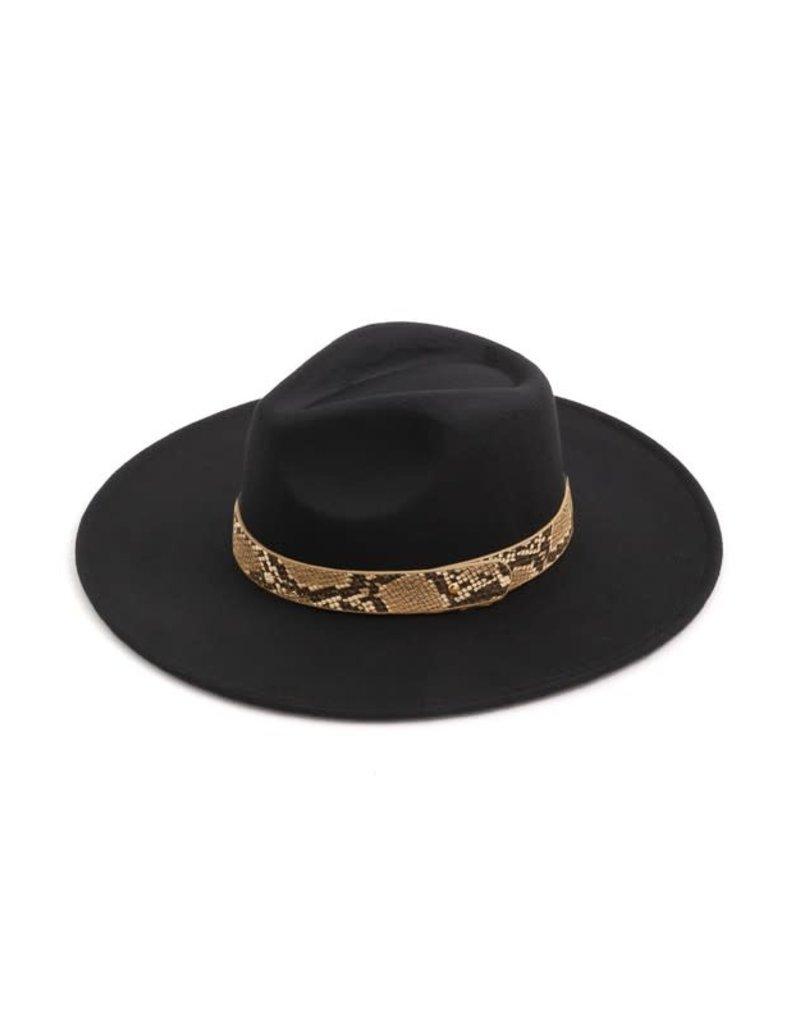 Snake Strap Fedora Hat