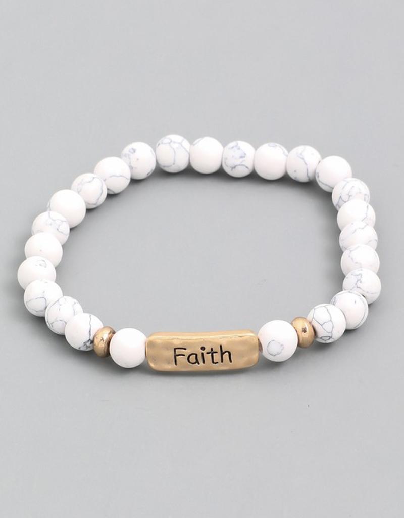 Faith Stretch Bracelet