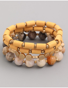 Four Piece Assorted Bead Bracelet