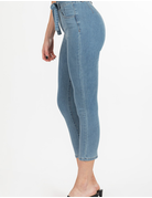Dream High-Rise Anklet Jeans w/Tie