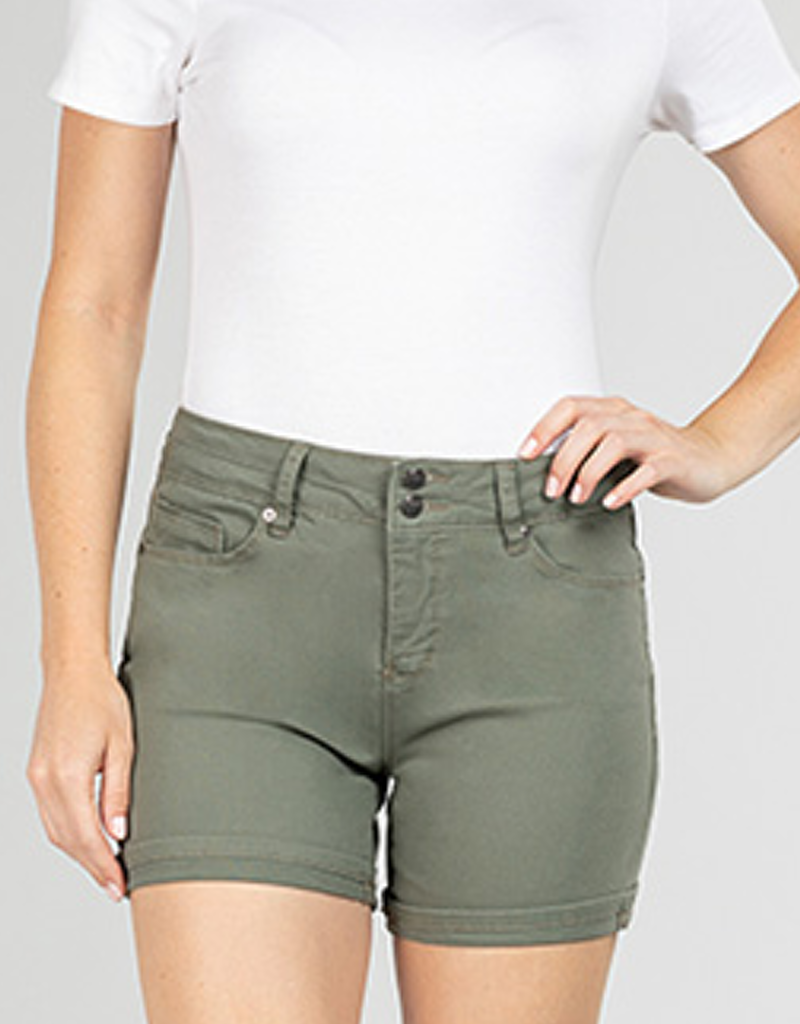 Hide Your Muffin Top 2 Button High Rise Shorts