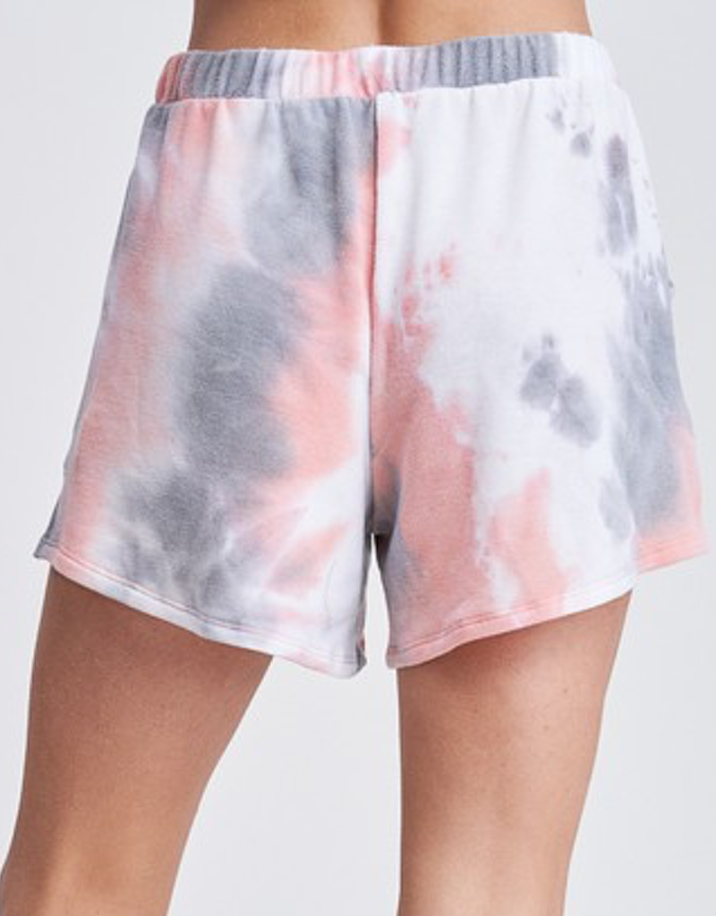 Tie Dye Knit Shorts With Pocket