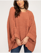 Oversized Chenille Knit Sweater