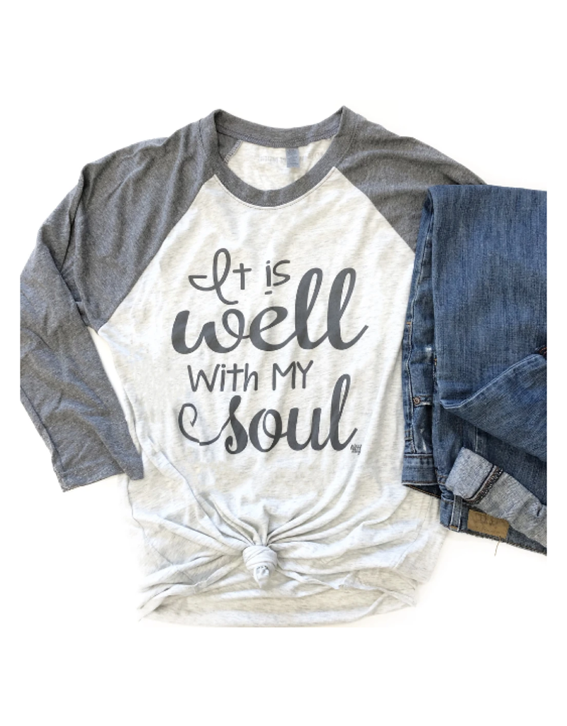 It Is Well With My Sould 3/4 Raglan Top
